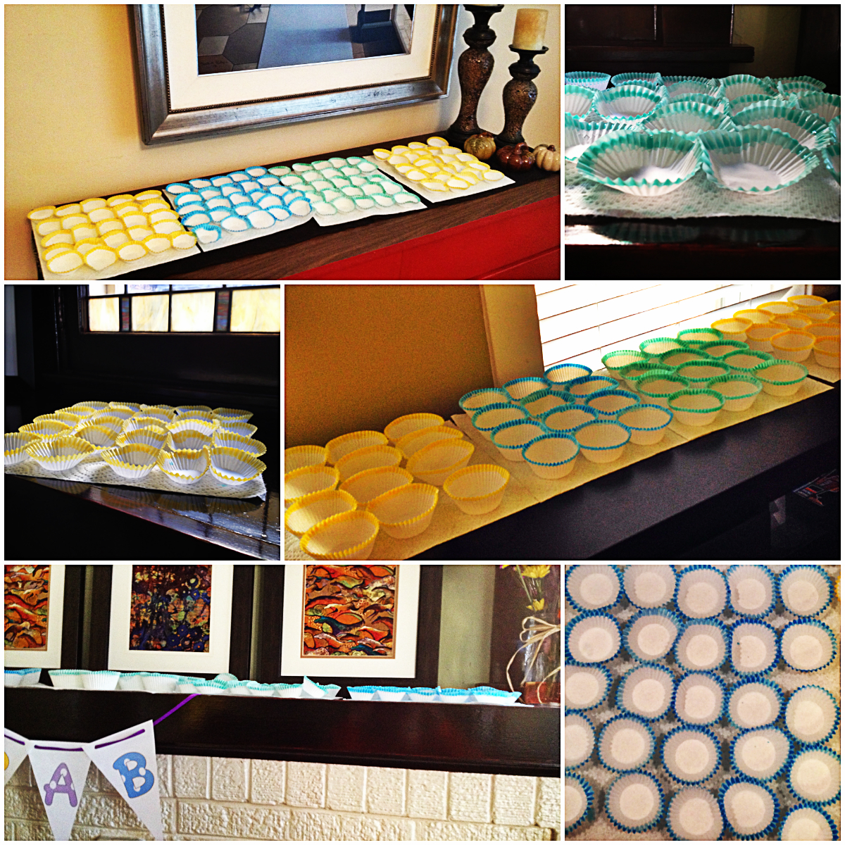 How to customize cupcake liners using dye