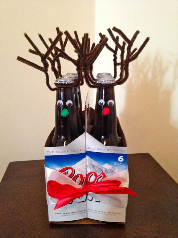 Easy peasy diy gift for men rudolph the red nosed for Easy gifts for men